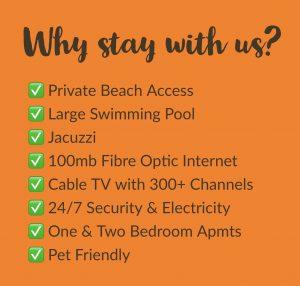 Long term apartment rental benefits - Bahia Residence Cabarete